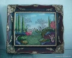 polyresin/polystone scenery/landscape frame/wallplaque