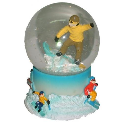 plastic snow Globe with ski man for tourist mountain gifts 1