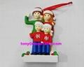 Polyresin family christmas ornament