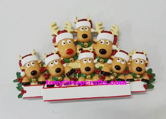 Polyresin deer table topper christmas ornament 1