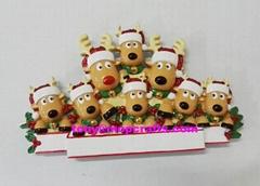 Polyresin deer table topper christmas ornament