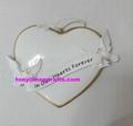 Polyresin love shape heart christmas ornament