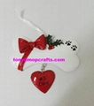 Polyresin pet dog christmas ornament