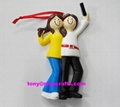 Personalized love couple christmas ornament