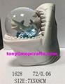 Polyresin shark of snow ball gifts