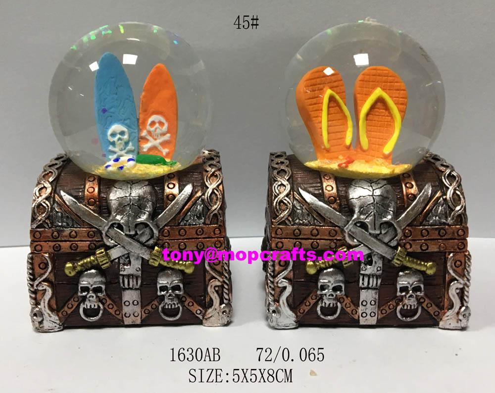 New ocean souvenir snow globe for gifts decor