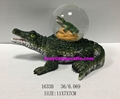 Resin crocodile snow globe in good shape