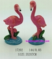 resin flamingo statue home decor