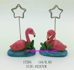 Polyresin name card holder of flamingo gifts