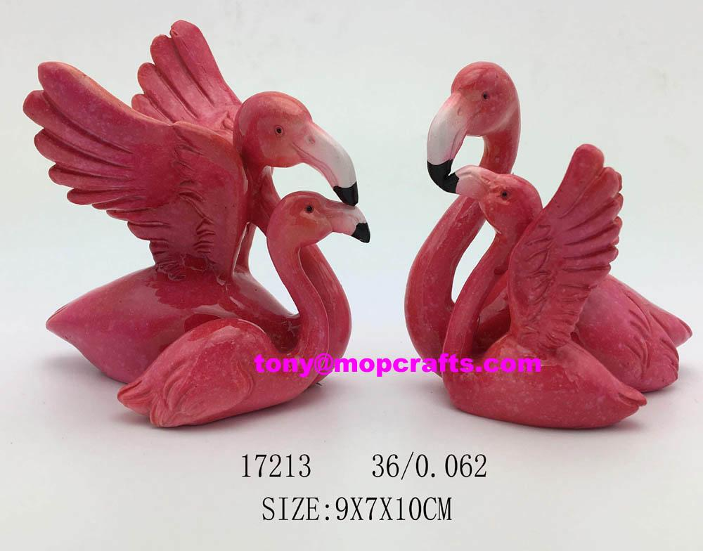 Resin  flamingo home decoration with good quality 1