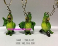 Good quality Green parrot with keychain 1