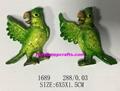 Hello Green parrot of good quality fridge magnet