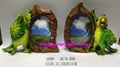 Resin green parrot with photo frame gifts 1
