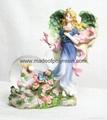 polyresin/polystone flower fairy snow