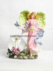polyresin/polystone fairy snowball,fairy sculpture