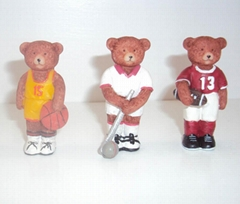 Polyresin mini gifts of sport bear crafts