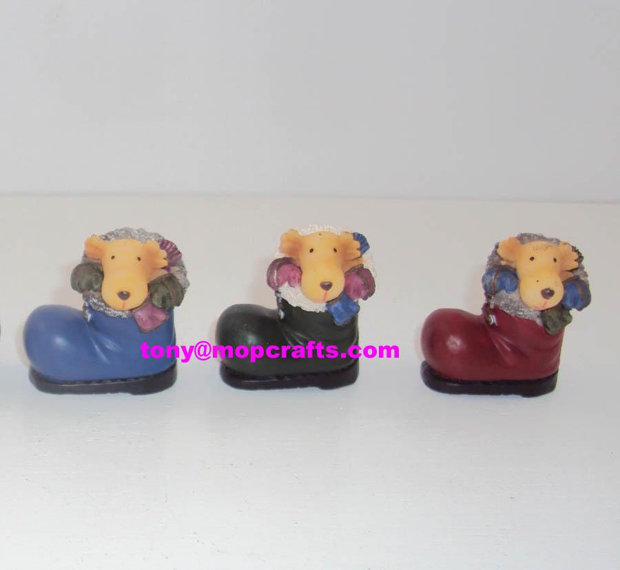 Resin mini size moose with boot crafts 1