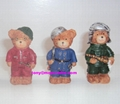 Polyresin small size bear crafts  for gifts decor
