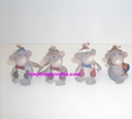 Polyresin mouse figure of keychain decoration gifts