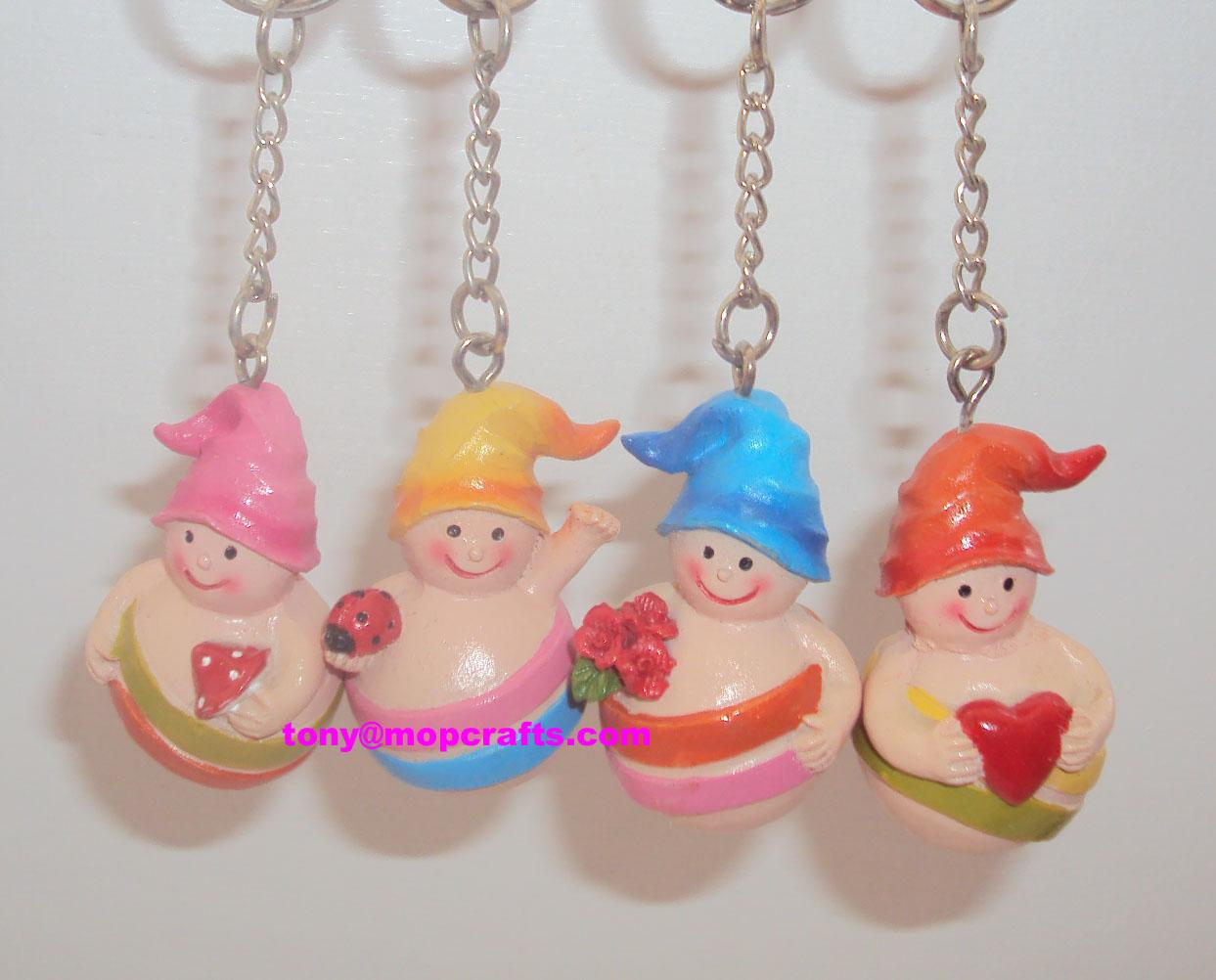Resin keyring with souvenir gifts items 1