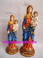 Polyresin religious holy family