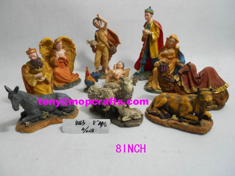 Polyresin religious nativity set 1
