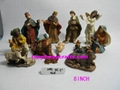 resin religious nativity set