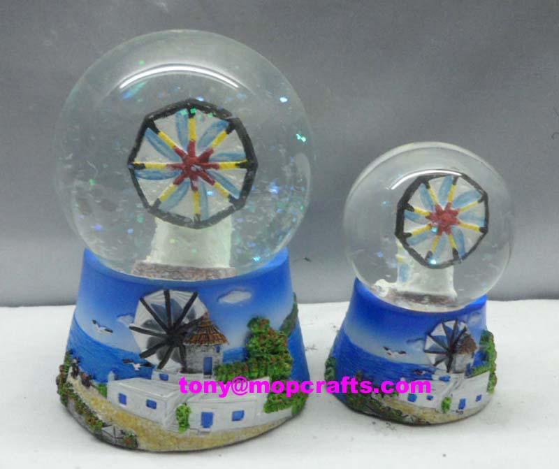 Polyresin Greece Souvenir gifts of snow globe