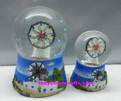 Polyresin Greece Souvenir gifts of snow globe