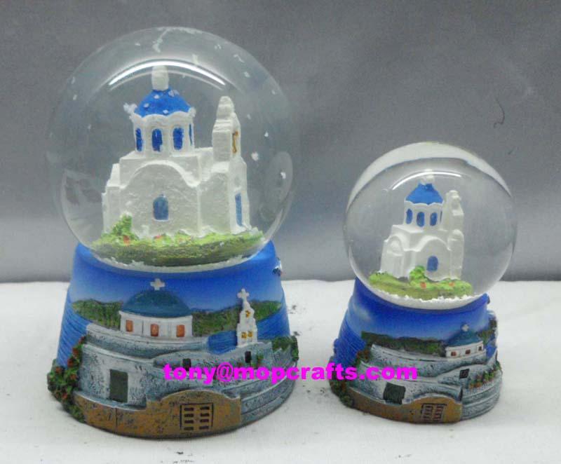Greece souvenir snow globe with cheap price