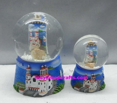 Polyresin Greece items for souvenir snow globe