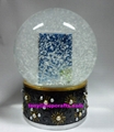 Polyresin snow globe with picture insert