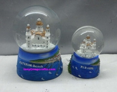 Customized Greece souvenirs crafts with snowball