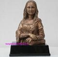 Polyresin bronze colors famous statue 1