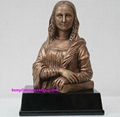 Polyresin bronze colors famous statue