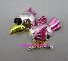 Resin electroplate colors birds with good surface