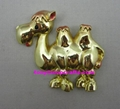 Polyresin gold color finished camel with