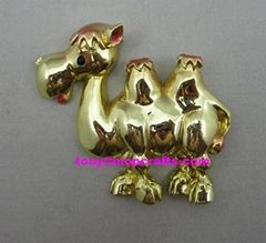 Polyresin gold color finished camel with good quality