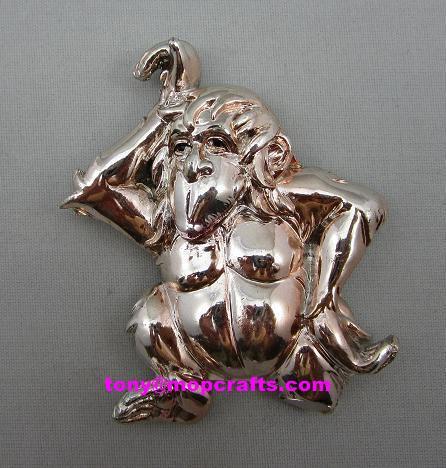 electroplating polyresin monkey 1