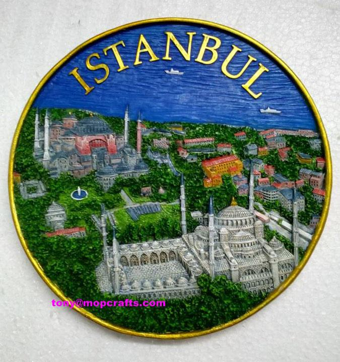 Resin Turkey Istanbul tourist gifts with good painting colors 1