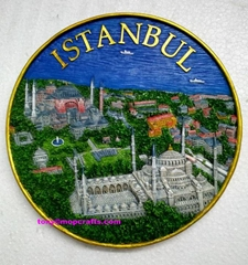 Resin Turkey Istanbul tourist gifts with good painting colors