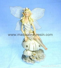 polyresin/polystone fairy figurine, fairy sculpture