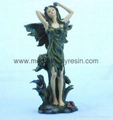 polyresin/polystone fairy miniature figurine,fairy carfts