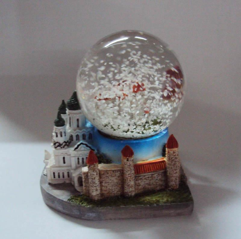Polyresin 3D building base snowglobe for Rekoda Estonia