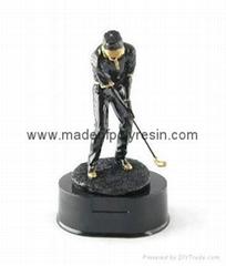 Polyresin sports trophy,