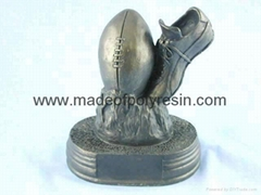 Football souvier sport trophy crafts,polyresin awards