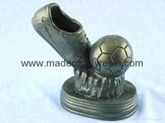Soccer ball sport trophy