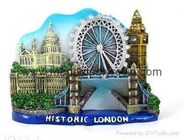 Resin castles, resin forts, resin historic houses magnet 1
