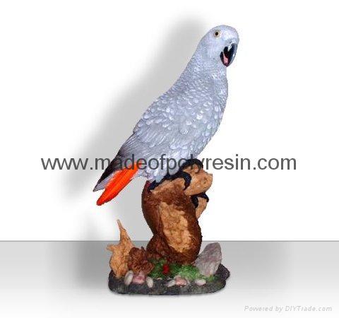 Polyresin African grey parrot crafts/figurine/figure 1