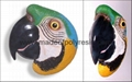Polystone parrot head wallplaque crafts,